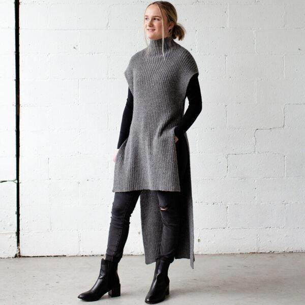 100% Australian alpaca yarn tunic