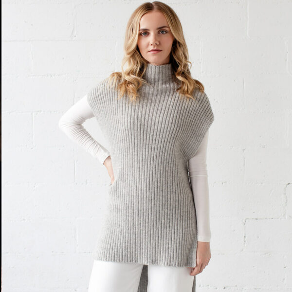Lorica Short tunic in alpaca knit