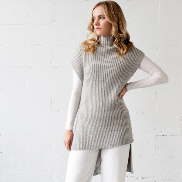 Lorica Short tunic alpaca knit