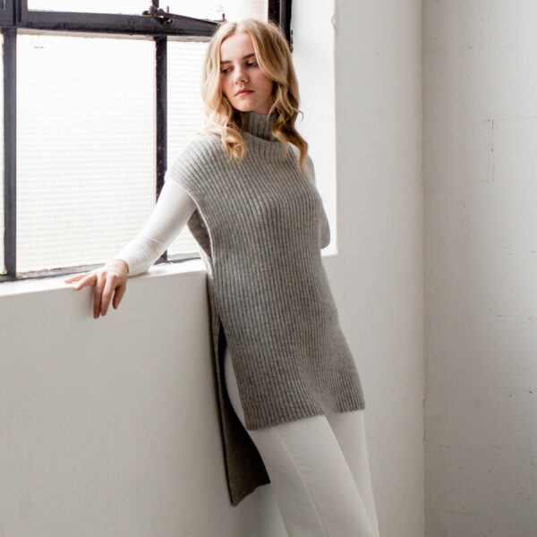 alpaca knit tunic