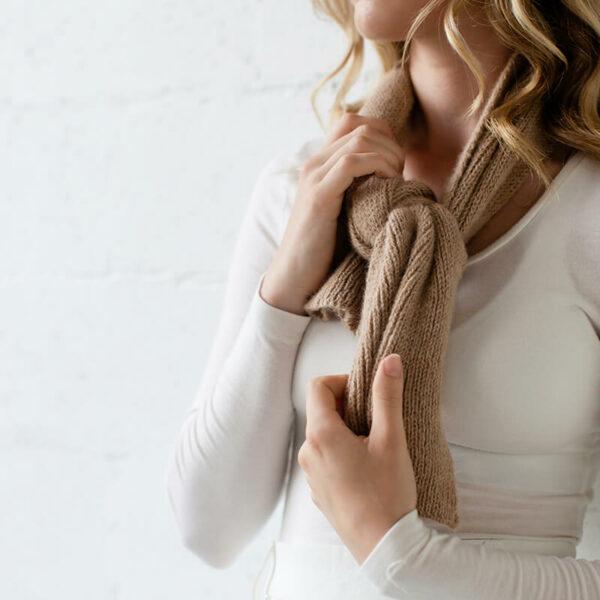 100% Australian alpaca yarn scarf