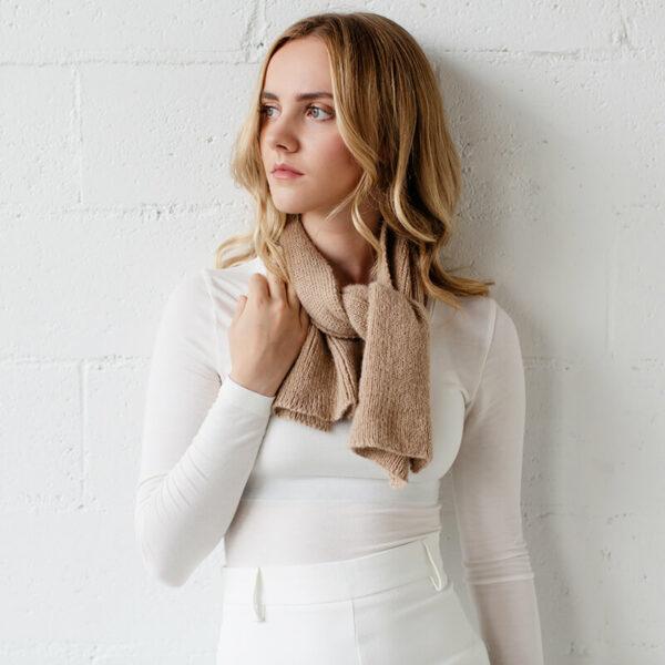 alpaca wool cravat