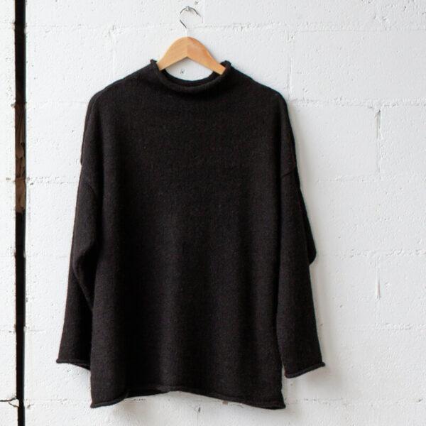 Black wool knit jumper