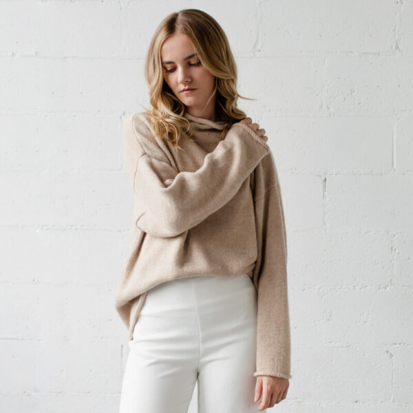 Fawn knit sweater